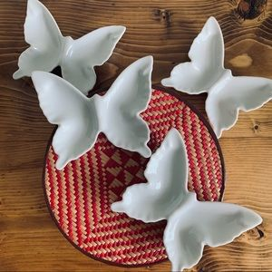 Vintage ceramic butterfly dishes